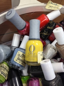 They didn't make yellow nail polish back then! Photo by Phil Lawson